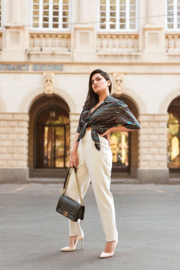 0bdeb8f4 Shirt – Balenciaga | Pants – Zara | Bag – Chanel | Shoes – Christian  Louboutin